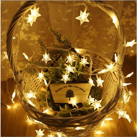 Castle Bedroom (Star String Lights, LED Twinkle Lights 40 LED Indoor Fairy Lights Warm White for Patio Wedding Bedroom Princess Castle Play Tents Decoration (19.68FT, USB power), I0955)