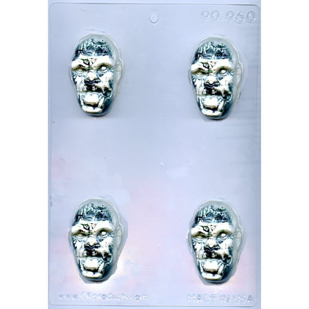 Halloween Zombie Head Chocolate Mold - 90-960 - Includes National Cake Supply Melting & Chocolate Molding - Zombie Halloween Cake Ideas