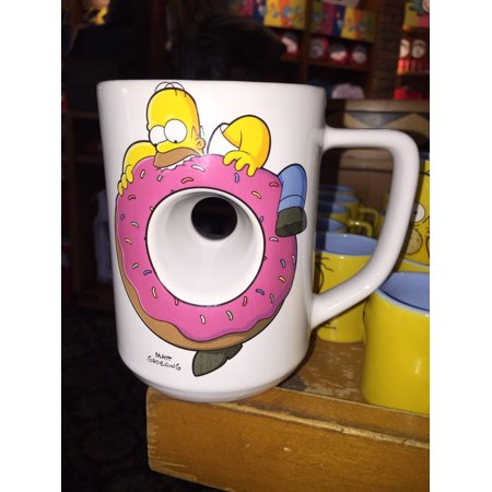 universal studios coffee cup mug the simpsons homer donut hole new - Donut Hole Eyeballs