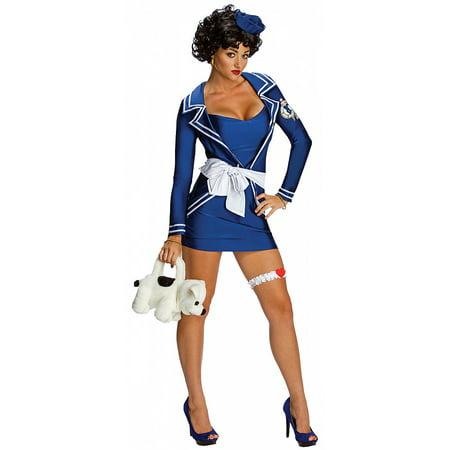 Betty Boop Sailor Adult Costume - Medium (Halloween Betty Boop)