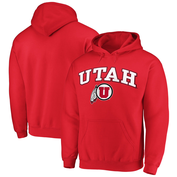 Medium NCAA Utah Utes Mens Team Color Crewneck Sweatshirt Red
