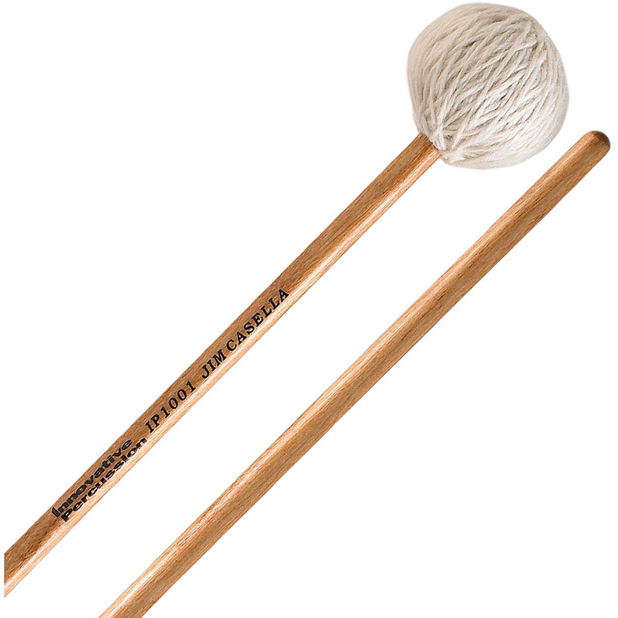 Innovative Percussion IP1001 Jim Casella Series Soft Marimba Mallets w  Birch Handles by Innovative Percussion