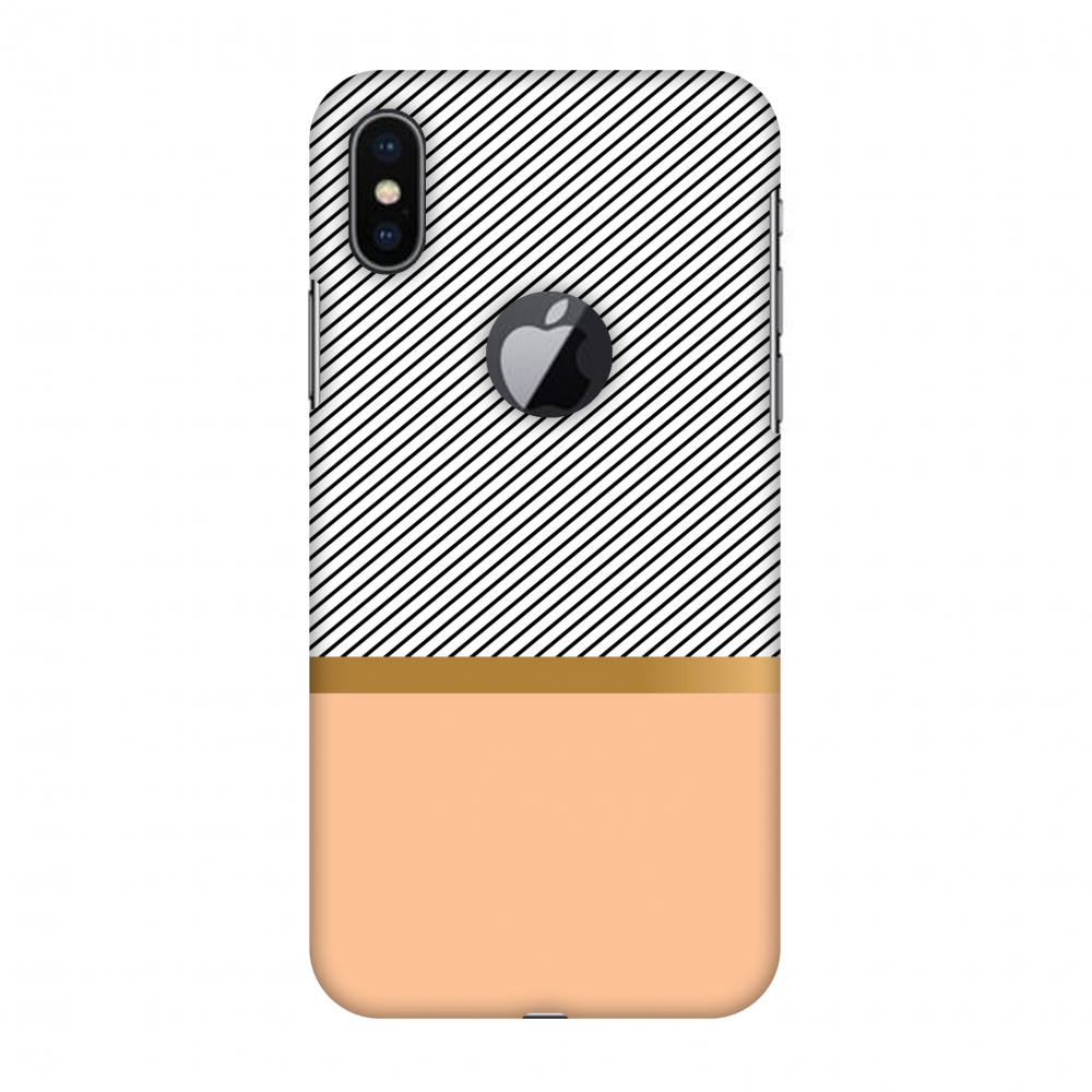 iPhone X Case, Premium Handcrafted Designer Hard Snap on Shell Case ShockProof Back Cover with Screen Cleaning Kit for iPhone X - Stripe Away, Cut for Apple Logo