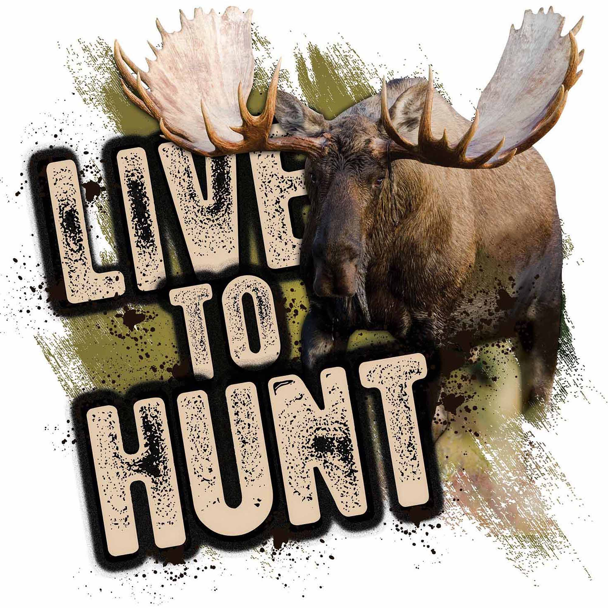 Mossy Oak Graphics Live to Hunt Moose Decal