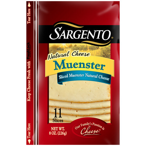 Sargento Muenster Sliced Natural Cheese, 11 count, 8 oz