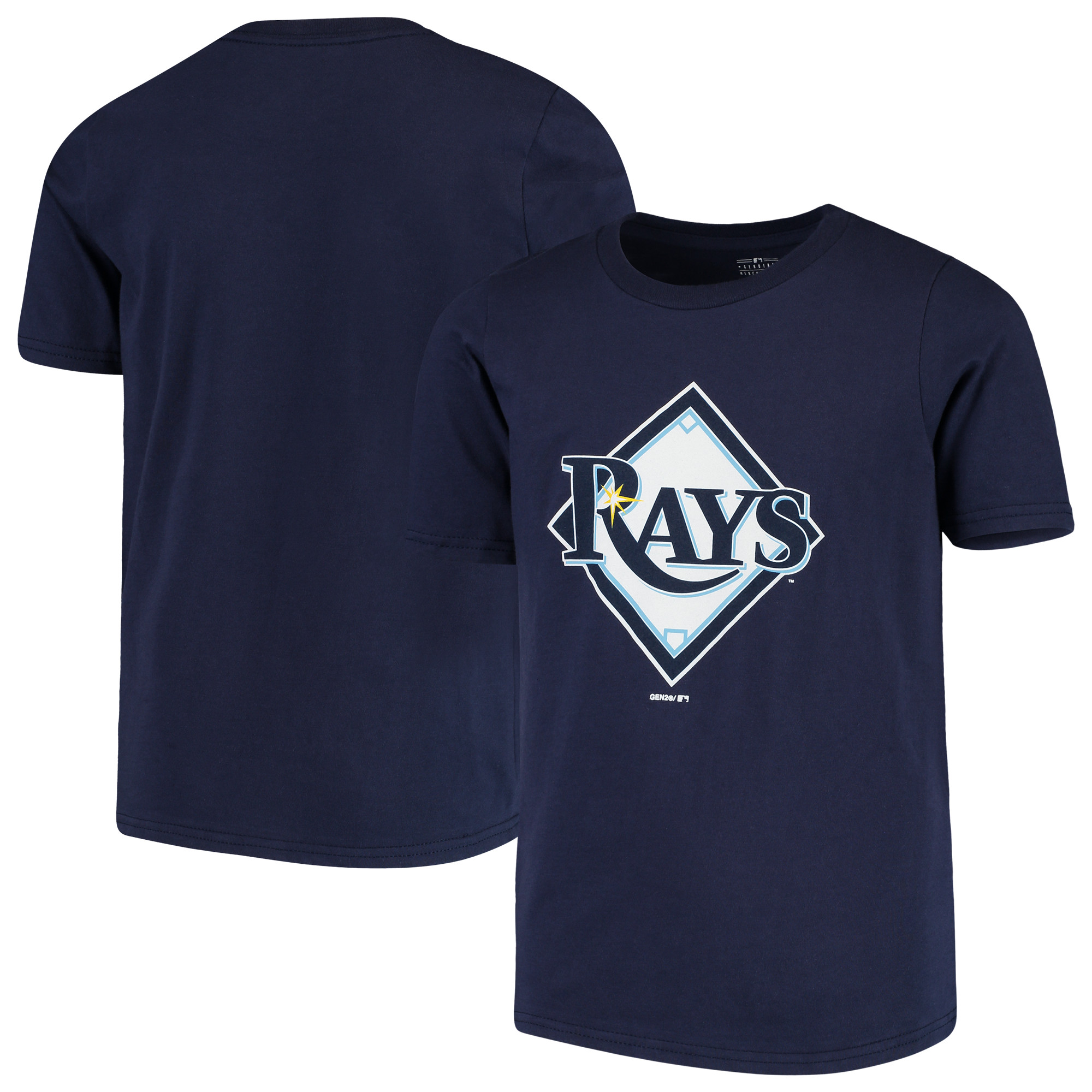 Tampa Bay Rays Youth Primary Team Logo T-Shirt - Navy