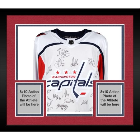 8b65b0704a2 Framed Washington Capitals 2018 Stanley Cup Champions Autographed White  Adidas Authentic Jersey with 22 Signatures -