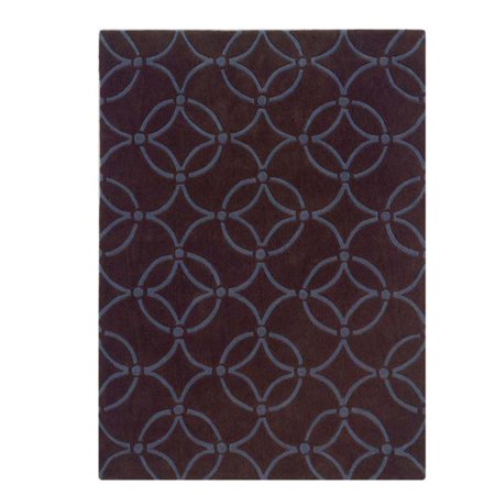 Linon Rugs Trio Chocolate Blue Rug 8 39 X 10 39 Kitchen