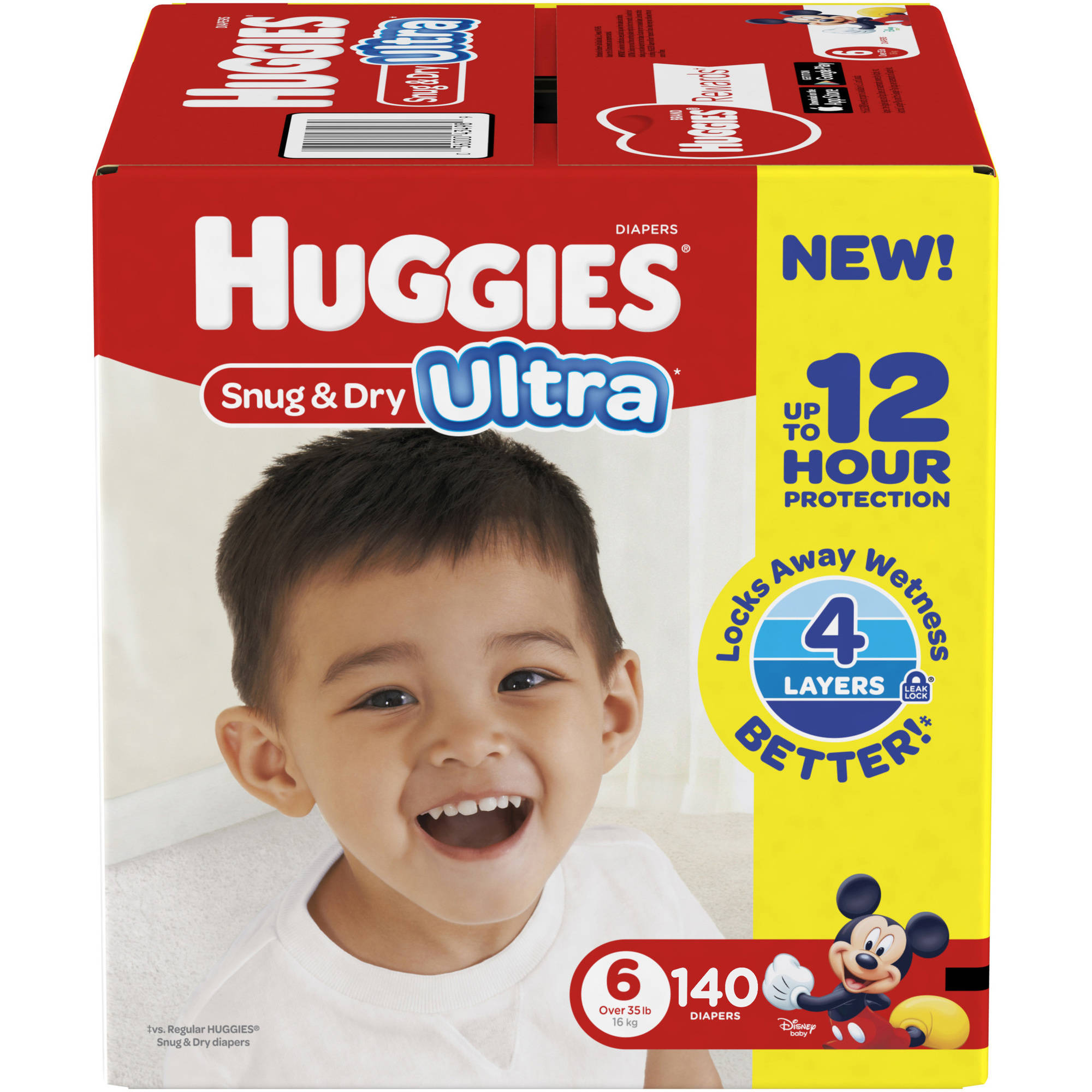 HUGGIES Snug & Dry Ultra Diapers, Size 6 (Choose Diaper Count)