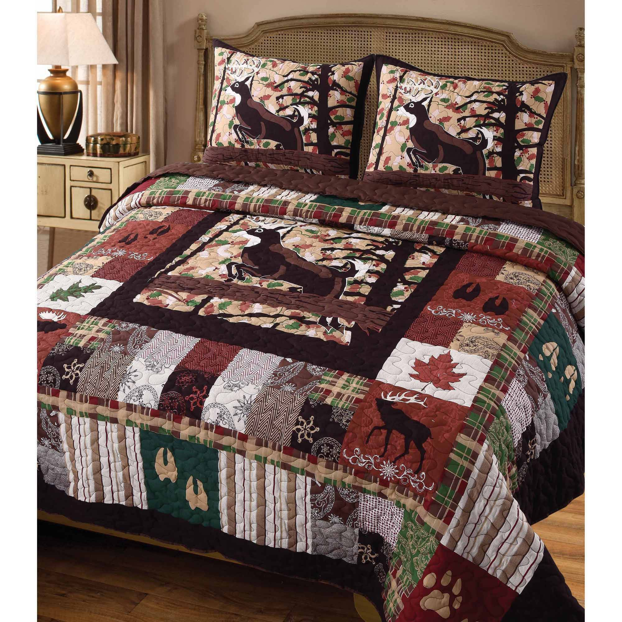 Global Trends Wildlife Lodge Bedding Quilt Set by Greenland Home Fashions