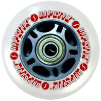 Razor Ripstik Wheels with 76 mm ABEC-5 Bearings Silver/ Red- Polyurethane