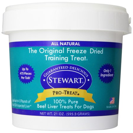 Stewart Freeze Dried Treats for Dogs Beef Liver 21 OZ.