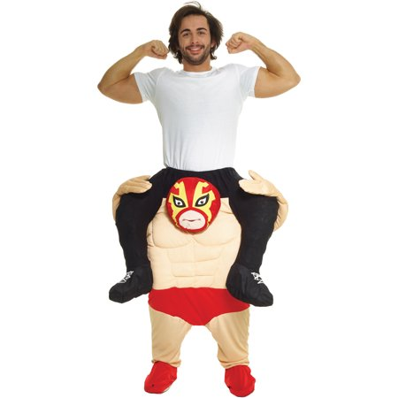 Morphsuits Adult Piggyback Wrestler Adult Costume, Beige Red, One Size (Sumo Wrestler Halloween Costumes)