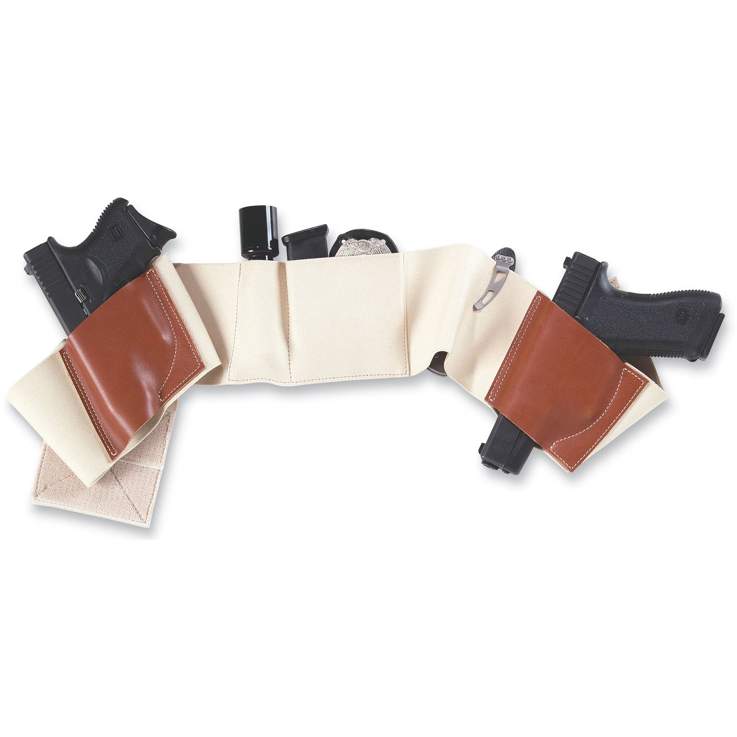 Galco Belly Band Underwraps Holster, Size Extra Large, Khaki by Galco