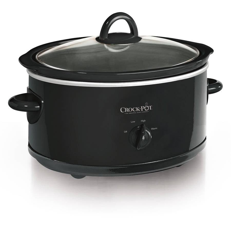 Crock-Pot 7-Quart Manual Slow Cooker, Black, SCV700-B2