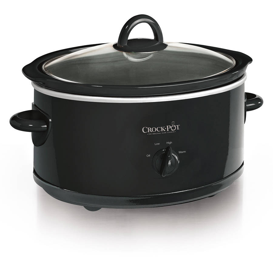 Crock-Pot 7-Quart Manual Slow Cooker, Black SCV700-B2