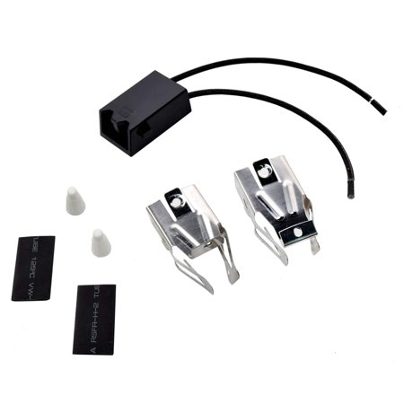 HQRP Range Top Burner Receptacle Kit Replacement for Amana FDU2482K FDU2492B FDU2492K FDU2492WW Oven Stove plus HQRP Coaster