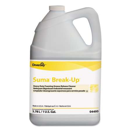 Suma Suma Break-Up Heavy-Duty Foaming Grease-Release Cleaner, 1 gal Bottle, (Best Way To Clean Up Grease)