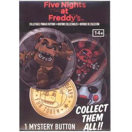 Collectible Pinback Button (Funko Collectible Pinback Buttons - Five Nights at Freddy's - PACK (1 Mystery)