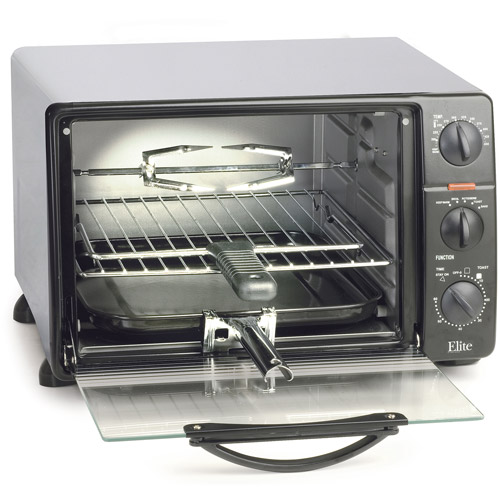 Elite Cuisine 23-Liter Toaster Oven with Rotisserie