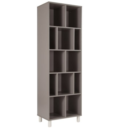 Flash Furniture Montclair Collection Bookshelf in Gray Finish