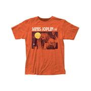Janis Joplin Men's Singing Slim Fit T-shirt X-Large Heather