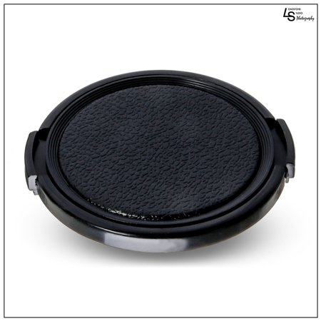 58mm Durable Plastic Snap-On Side Pinch Universal Protective Lens Cap for Nikon, Canon, and Sony DSLR Cameras by Loadstone Studio WMLS1162