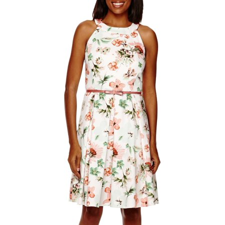 Julian Taylor Sleeveless Halter Neck Floral Fit And Flare Dress - Floral Dresses](Ann Taylor Clearance Dresses)