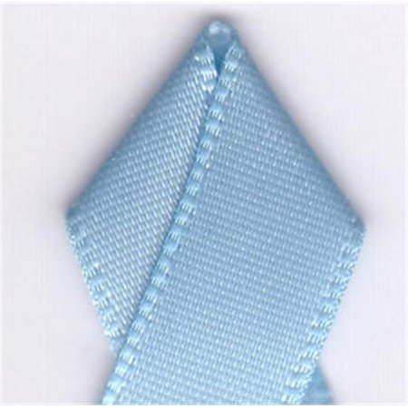 Papilion R07430209030820YD .38 in. Single-Face Satin Ribbon 20 Yards - Blue Topaz