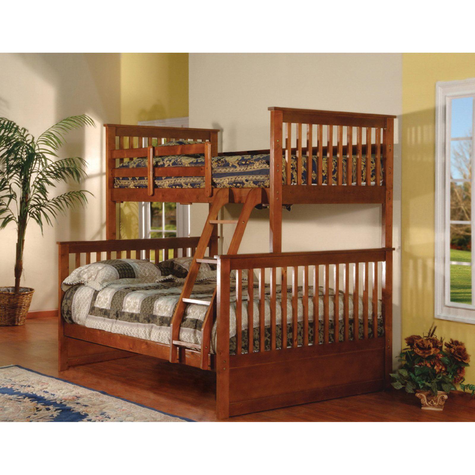 K & B Furniture Twin Over Full Bunk Bed Esprit Walnut by KB Furniture