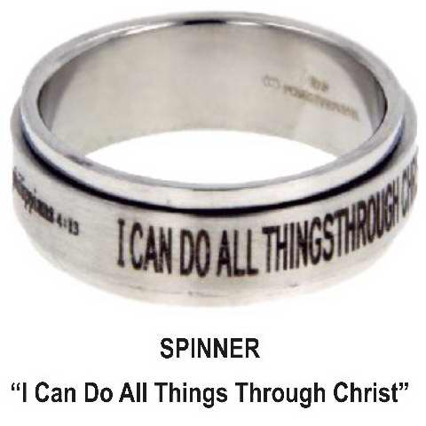 Ring-I Can Do All Things-Spinner-Sz  6