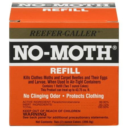 Moth Cake (Reefer Galler NO-MOTH Closet Hanger Refill 14 oz.)
