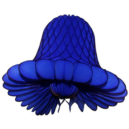 3-pack 9 Inch Hanging Honeycomb Tissue Paper Bell Decoration, Dark Blue, by Devra Party](Honeycomb Tissue Decorations)