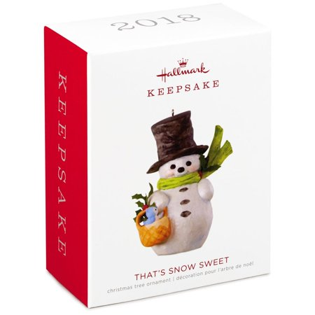 Hallmark Keepsake 2018 That's Snow Sweet Snowman Ornament ()