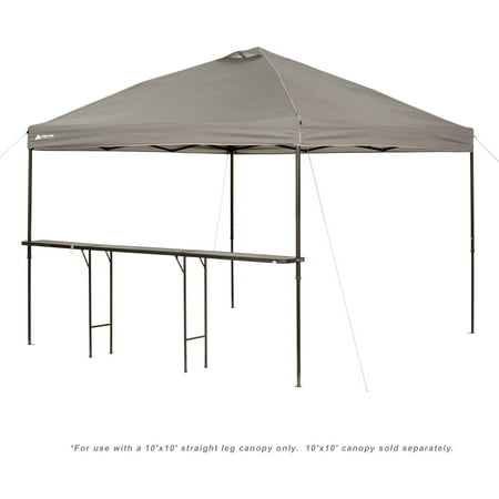 ozark trail bar height 10 folding canopy table walmart com