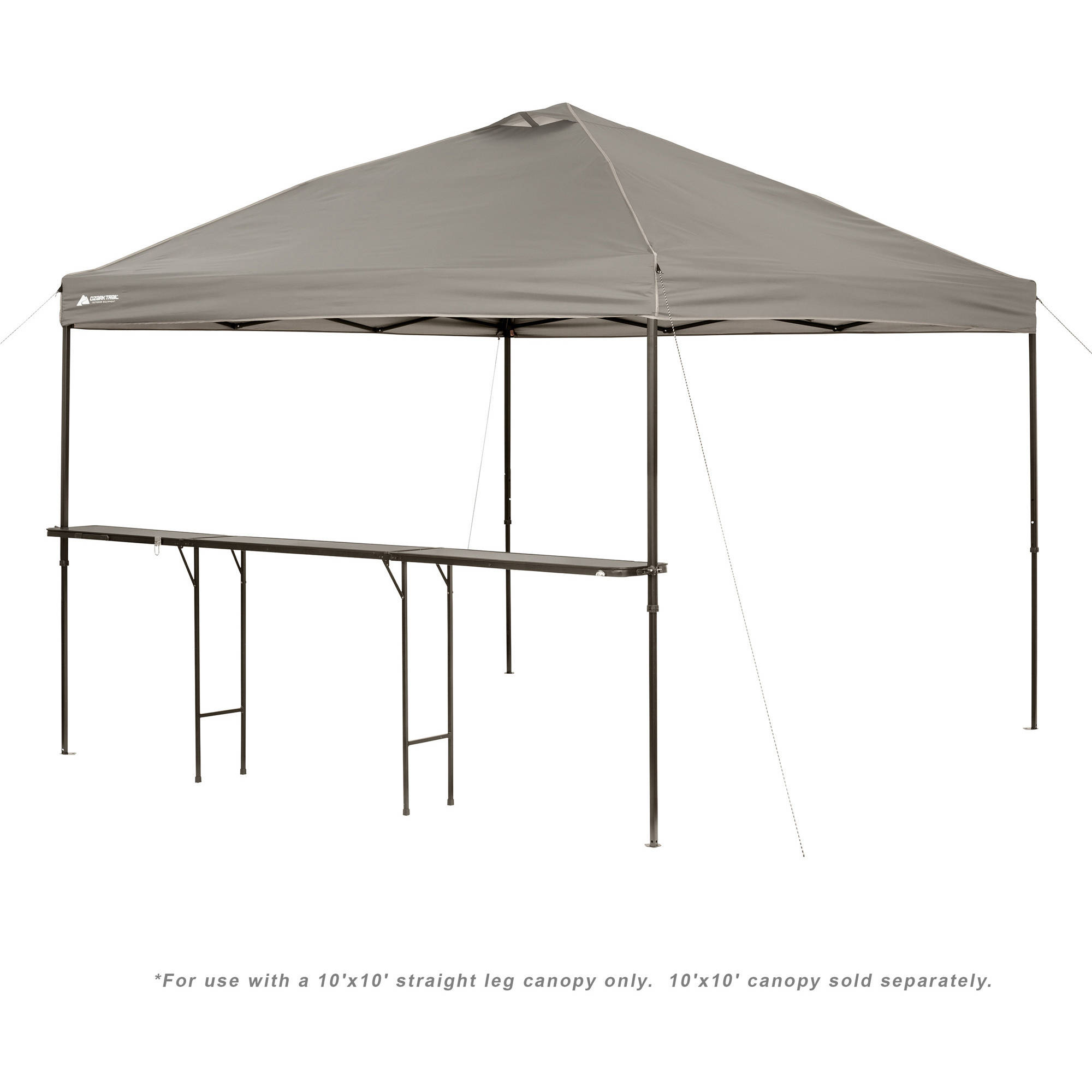 ozark trail bar height 10 folding canopy table walmartcom - U Shape Canopy 2015