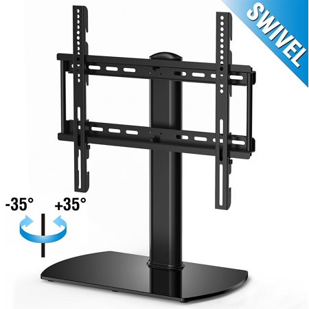 Fitueyes Universal TV Stand Base Swivel Tabletop TV Stand with mount for 32 inch to 50 inch Flat screen Tvs/xbox One/tv Component /Vizio Tv (Steel Component Stand)