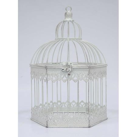 TABLETOP HEXAGON BIRDCAGE (Bird Cage Decoration)