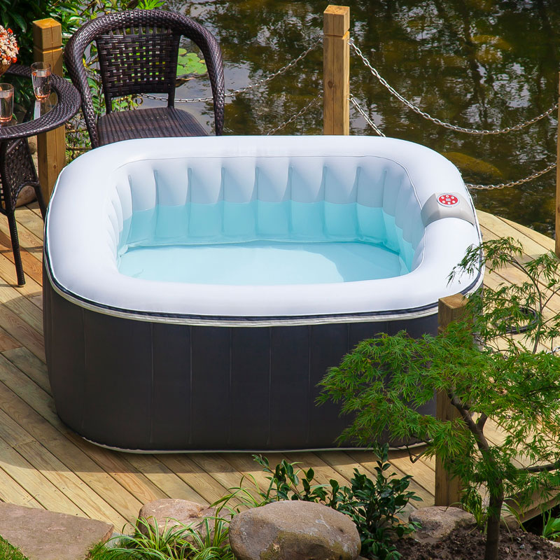 Lifesmart Aqua Spa Deluxe 4-6 Person Portable Inflatable ...