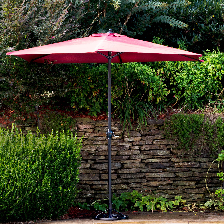 Arlington House Wrought Iron Outdoor Umbrella Base Charcoal