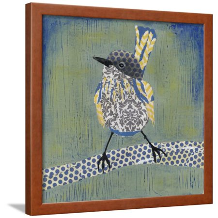 Patchwork Wren I Framed Print Wall Art By Grace Popp - Grace Quilt Frames