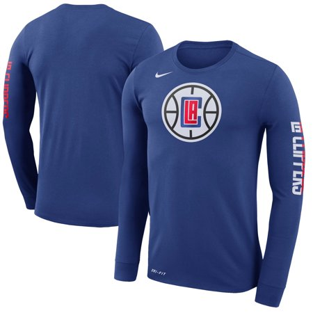 LA Clippers Nike Logo Long Sleeve T-Shirt - Royal (Nike Long Sleeve T Shirt Men)