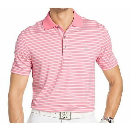 1cdc2982 IZOD NEW Pink Lemonade Mens Size Medium M Striped Polo Golf Shirt -  Walmart.com