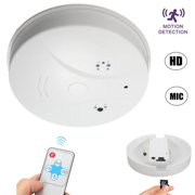Dragon Touch 16GB 1280x720 HD Wireless Indoor Hidden Spy Camera Nanny Security Cam Smoke Detector Audio