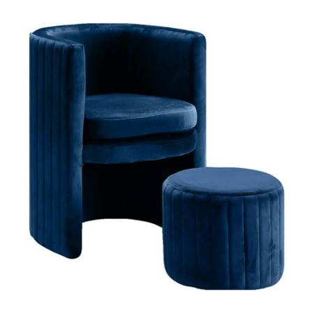 Meridian Furniture Inc Selena Upholstered Accent Barrel ...