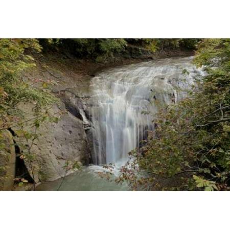 Hokkaido Waterfall - 1 Canvas Art - Alan Blaustein (24 x (1 Waterfall)