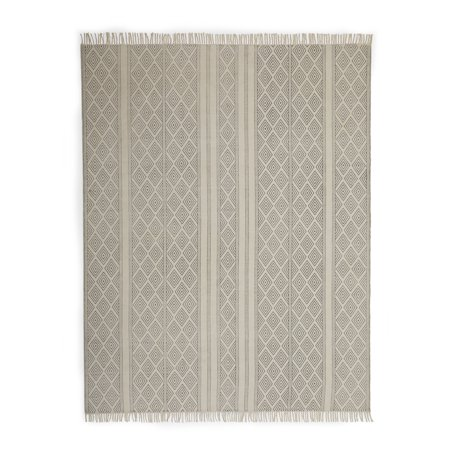 - MoDRN Scandinavian Diamond Flat Weave Area Rug