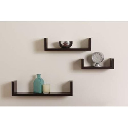 Danya b xf11039 wall decor home decor shelves brown for Home decor 365