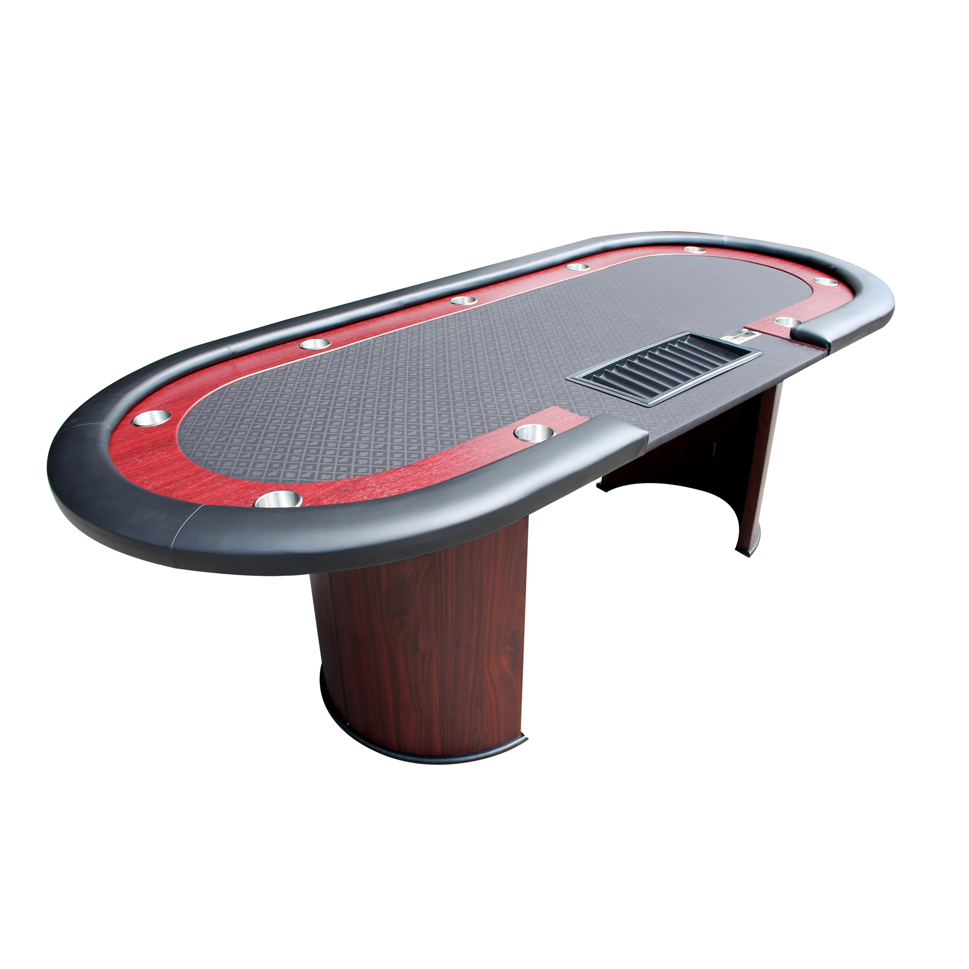 IDS POKER Poker Table For 96 X 43 Inch Oval 10 Players Black Speed Cloth  Racetrack
