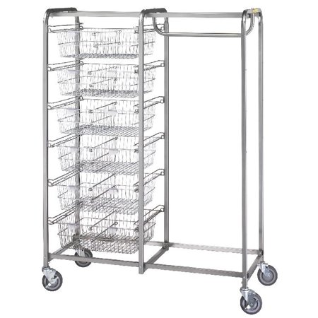 R&B Wire Products 1014 Six Basket/Garment Hanger Resident Item (Resident Item Cart)